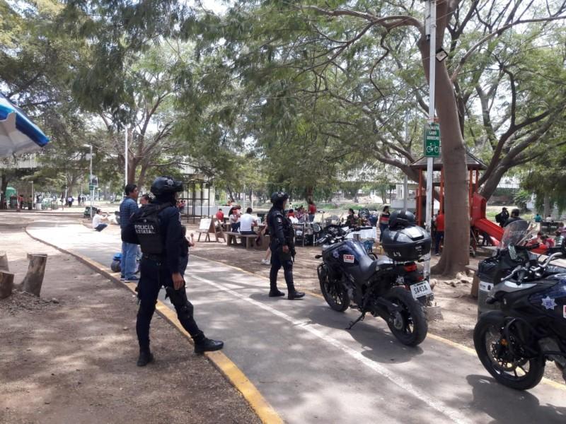 Recorre Policía Estatal centros de recreo en Culiacán