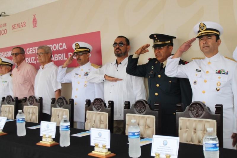 Conmemoran en Mazatlán, el 105 aniversario de la Gesta Heroica de Veracruz