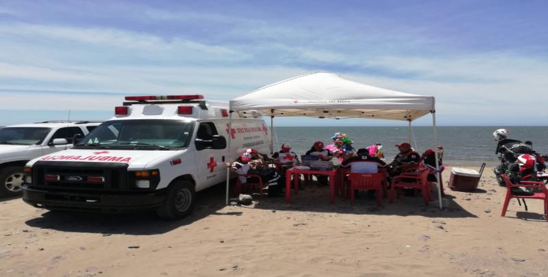 Cruz Roja Sinaloa atendió a mil 057 personas en semana santa