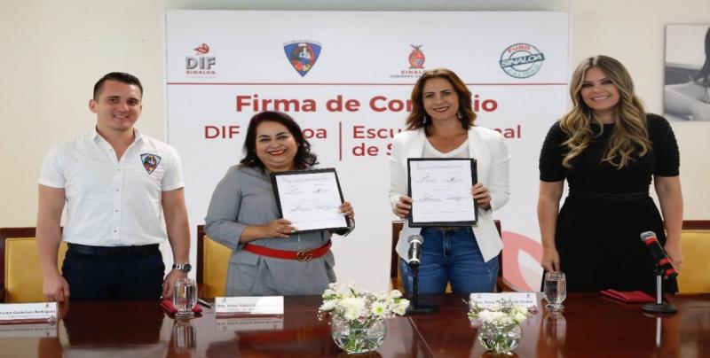Firman convenio de colaboración DIF Sinaloa y  la ENS