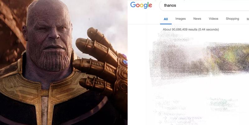 Checa lo que ocurre al escribir 'Thanos' en Google