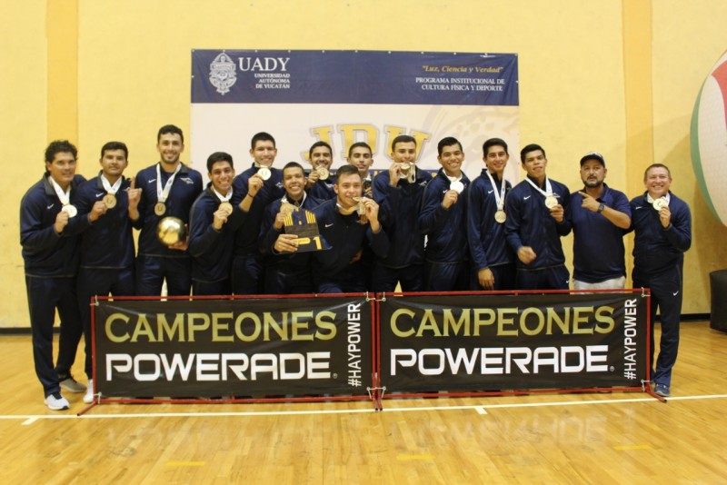 Águilas UAS logran oro en Voly de Sala