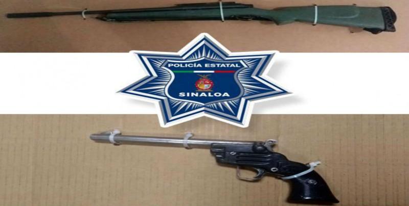 Personal que integra la BOMU asegura dos armas de fuego