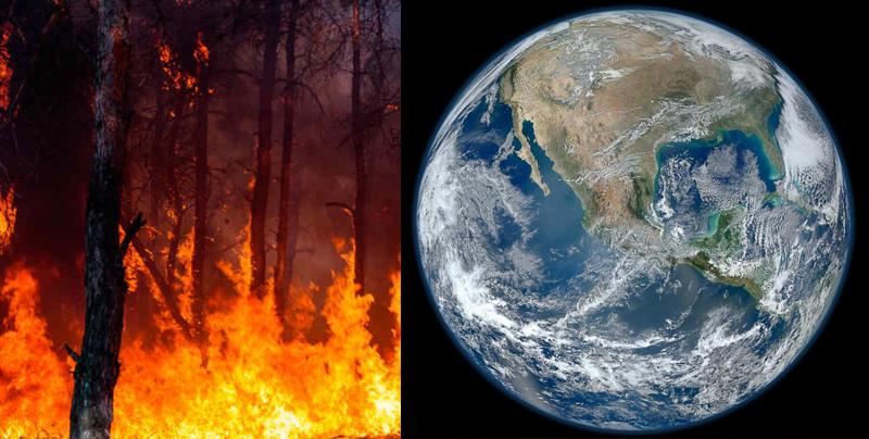Así lucen los incendios de México desde el espacio