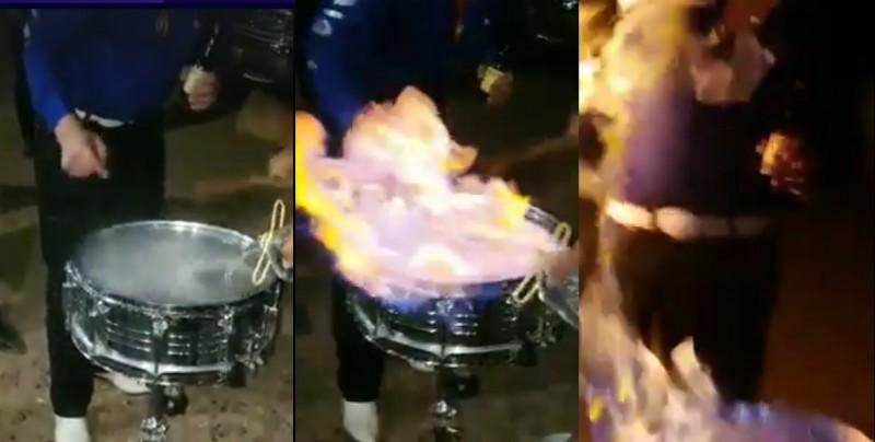 Prenden fuego a tarola y hombres comienzan a incendiarse