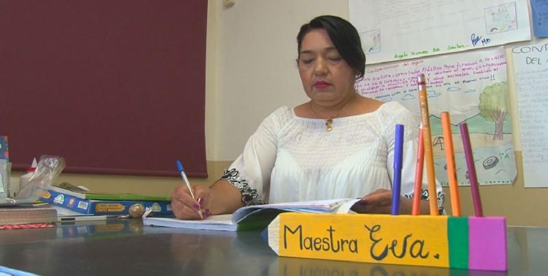 Evangelina Beltrán y su vocación de ser maestra