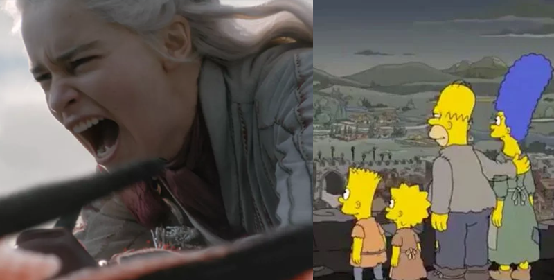Los Simpsons predicen el penúltimo capítulo de 'Game of Thrones'