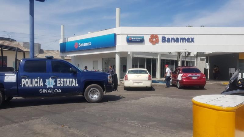 Asaltan sucursal bancaria en Mazatlán