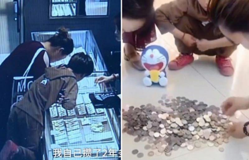 Niño de 9 años rompe su alcancía y compra anillo para su mamá
