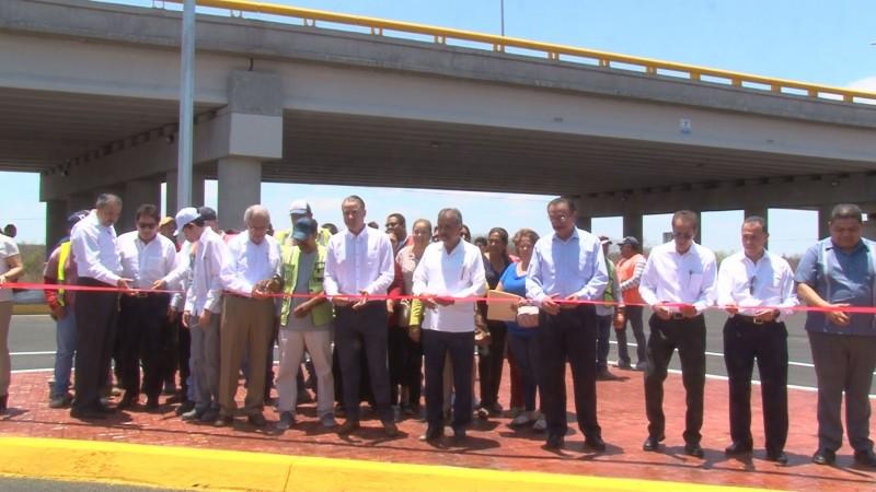 Inauguran puente superior del entronque del bulevar Benjamín Hill y la Costerita