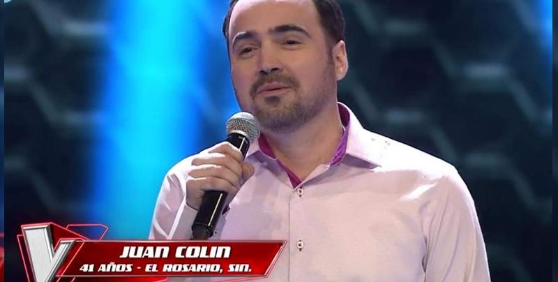 Juan Colin del Rosario Sinaloa cautiva a Montaner en La Voz