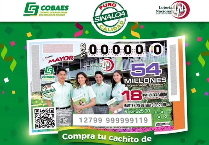 COBAES será imagen de la Lotería Nacional en mayo