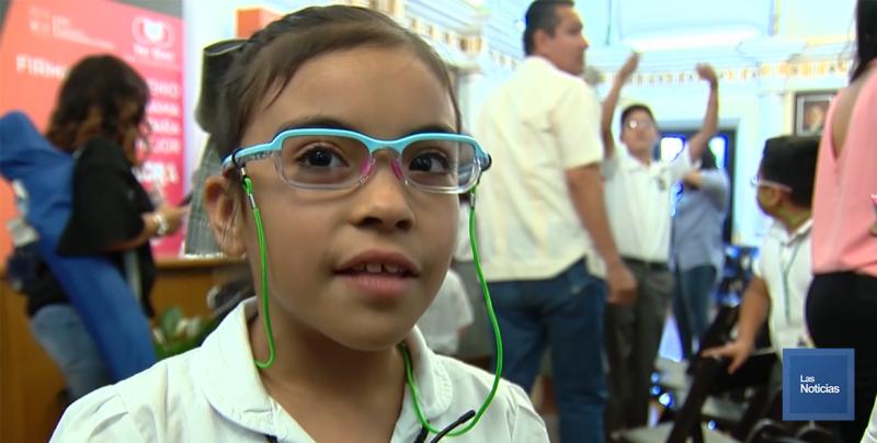 Menores estudiantes destacan que ahora si tienen buena vista