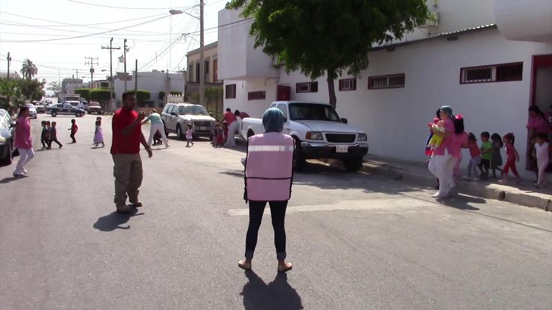 Realizan simulacro de incendio en guardería infantil de Mazatlán