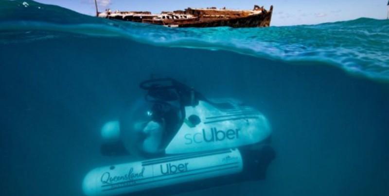 Uber lanza nuevo servicio para viajar al fondo del mar
