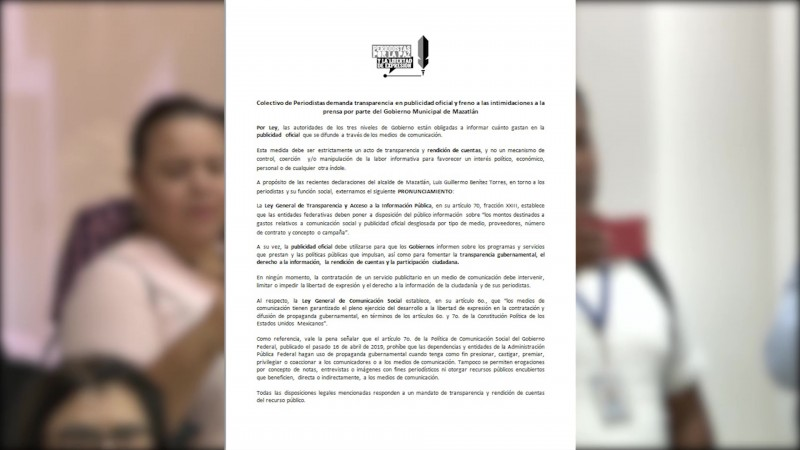 Ven intentos de 'control' de información en Mazatlán