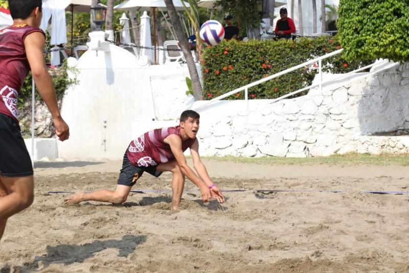 Dos equipos de Sinaloa aseguran calificación en Voly de Playa en la Olimpiada Nacional