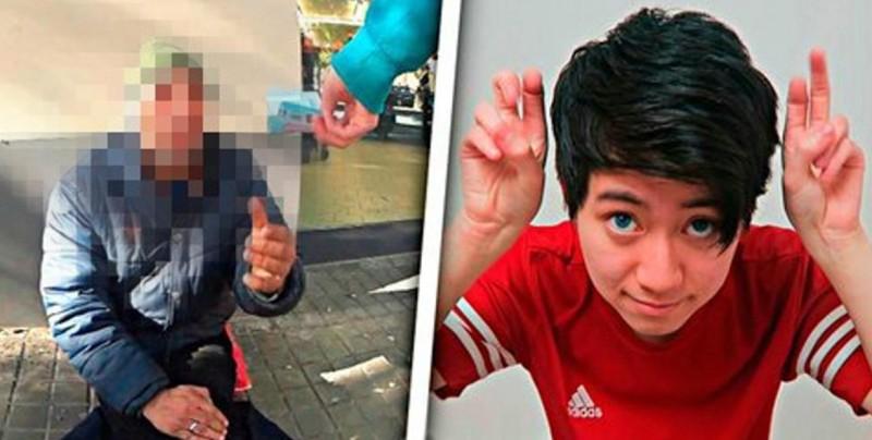 Condenan a youtuber por darle a mendigo galletas rellenas de pasta de dientes