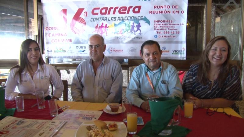 CIJ Mazatlán anuncian la XVI carrera contra las adicciones
