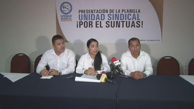 Se presenta planilla unidad sindical que busca dirigir el SUNTUAS