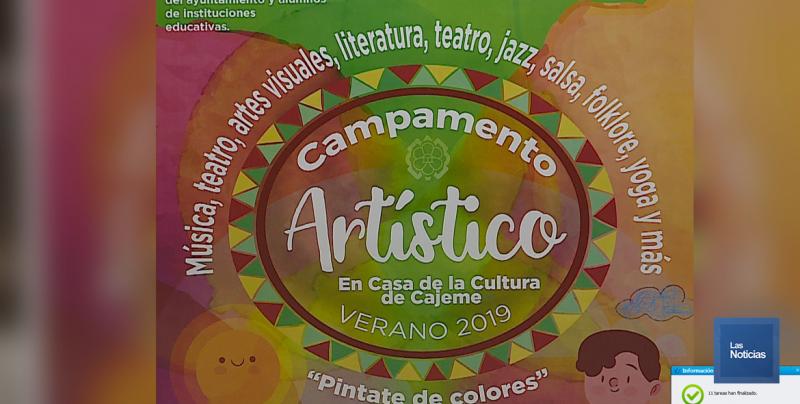 """Invitan a Campamento de Verano 2019 """"Pintante de colores"""""""