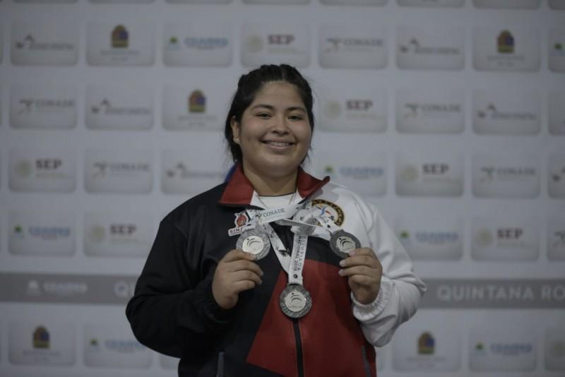 Marisol Blanco da tres medallas de plata a Sinaloa en la Olimpiada Nacional 2019