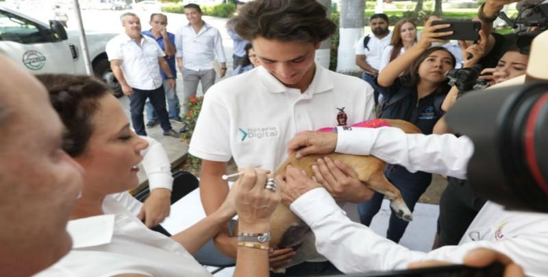Entrega Quirino Ordaz tres clínicas veterinarias móviles equipadas