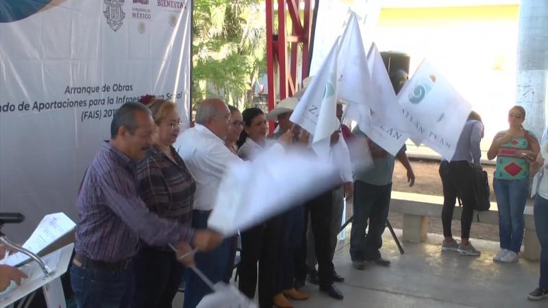 Abandera Ayuntamiento de Mazatlán, cuatro obras más en la zona rural