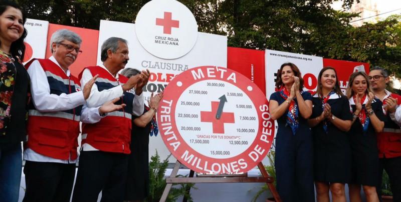 Culmina Colecta de Cruz Roja Sinaloa, se logró más de 30 millones de pesos