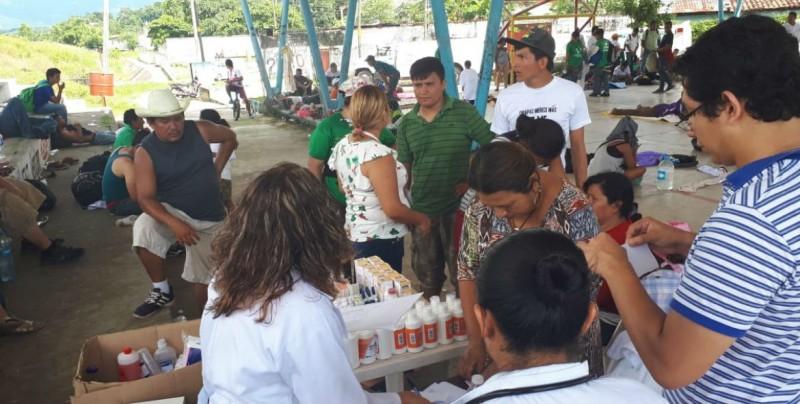 Brindan atención médica a migrantes en Chiapas