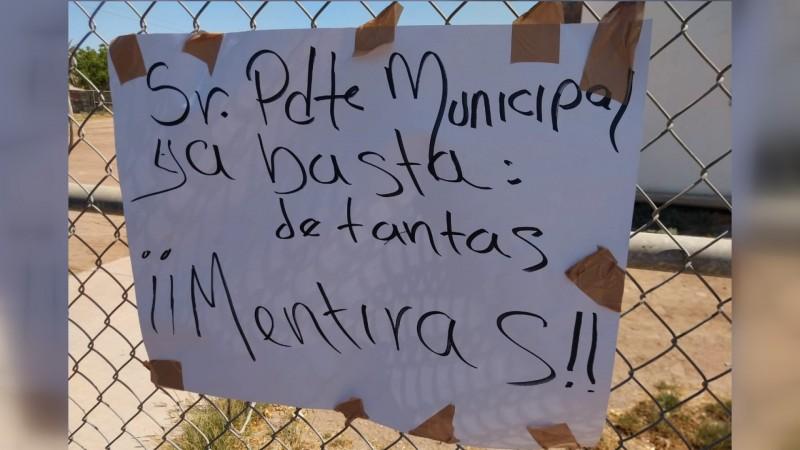 Alcalde pide que presenten denuncias con pruebas, de supuesto abuso de fuerza pública en El Carrizo