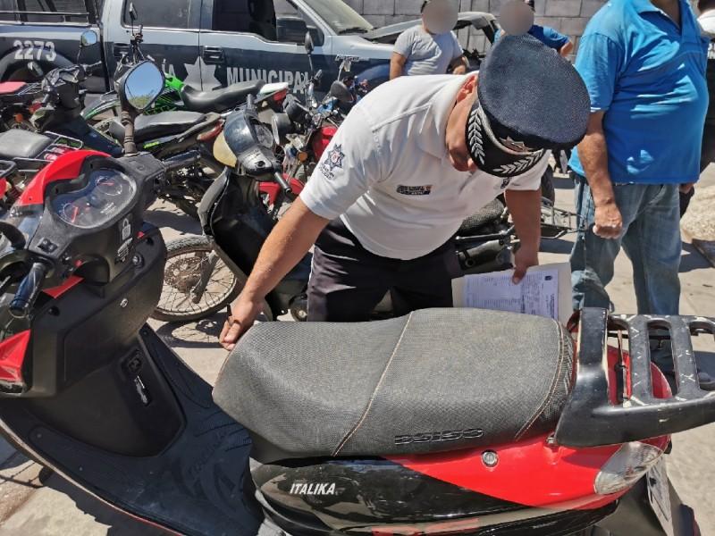 Decomisan más de 40 motocicletas que circulaban de manera irregular