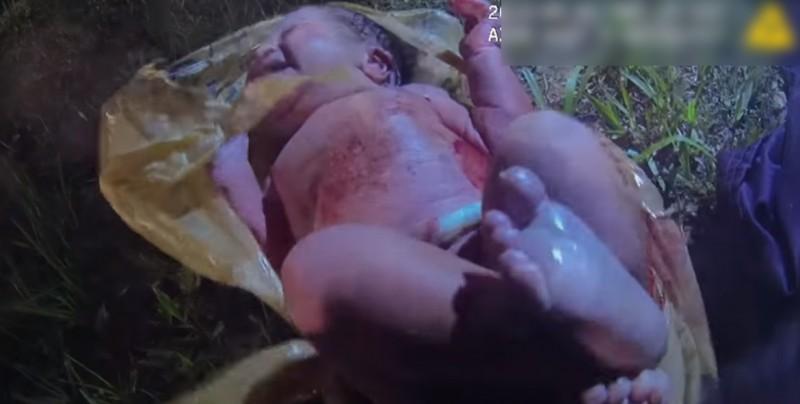 Difunden video del rescate de una bebé abandonada en el bosque