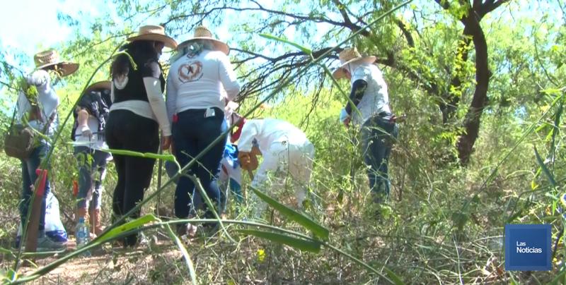 Rastreadoras de Obregón pidieron más apoyo para sus labores