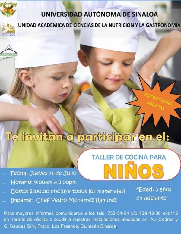 La UAS ofrecerá el curso  de Cocina para Niños,