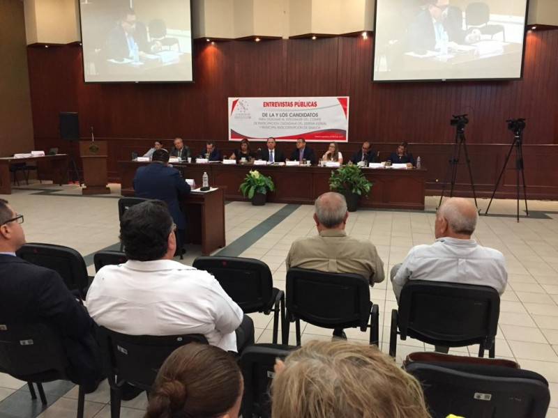 Continúan comparecencias de aspirantes al comité de participación anticorrupción