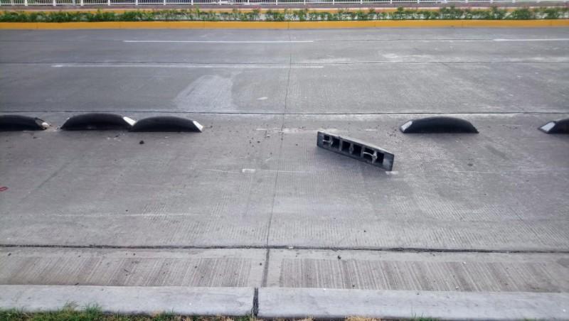 Destruyen moderna ciclovía del bulevar Rolando Arjona