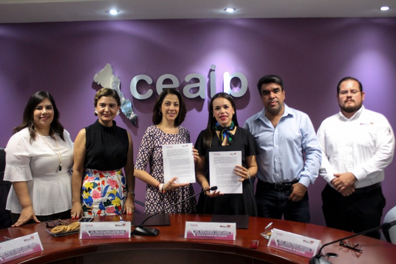 Firman convenio Ceaip e Ismujeres