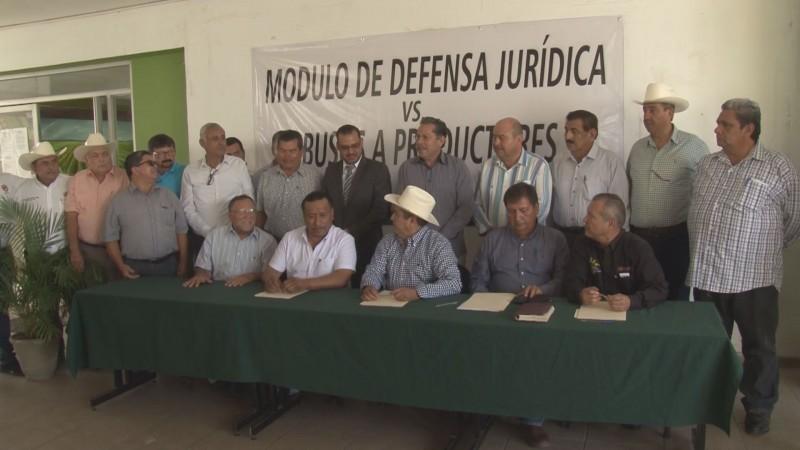 Instalan módulo de defensa jurídica contra abusos a productores por parte de acopiadores