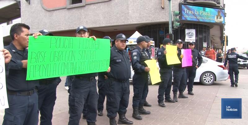 Se manifiestan Federales contra Guardia Nacional