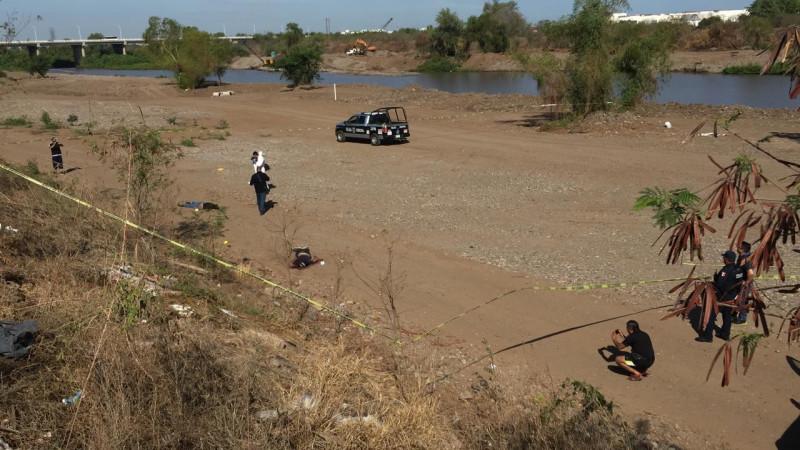 Encuentran a dos personas asesinadas en la ribera del río Culiacán
