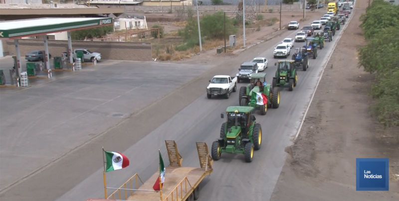 Productores agrícolas bloquearon la Carretera Internacional