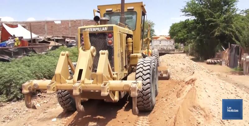 Acondicionan calles de la colonia Vida Digna en Pueblo Yaqui