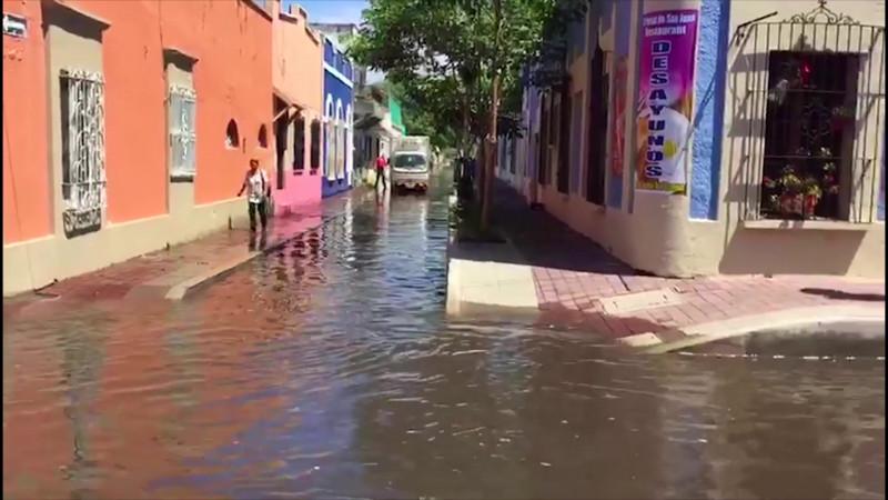 De 5.7 mm la lluvia que inundó a Mazatlán