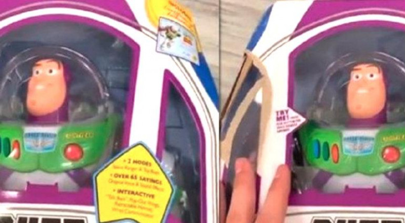 "Buzz Lightyear ""se mueve"" dentro de su caja y es viral (VIDEO)"