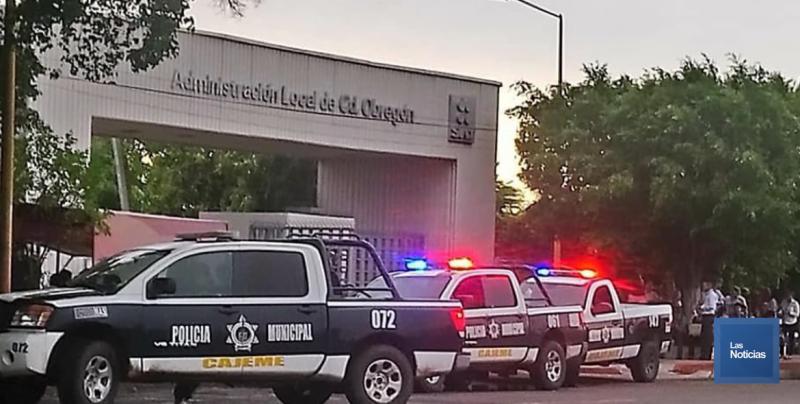 Por amenaza de bomba, evacuaron el SAT en Ciudad Obregón
