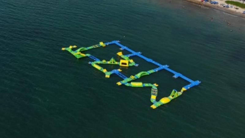 Parque acuático inflable podría ampliar estancia de turistas en Mazatlán