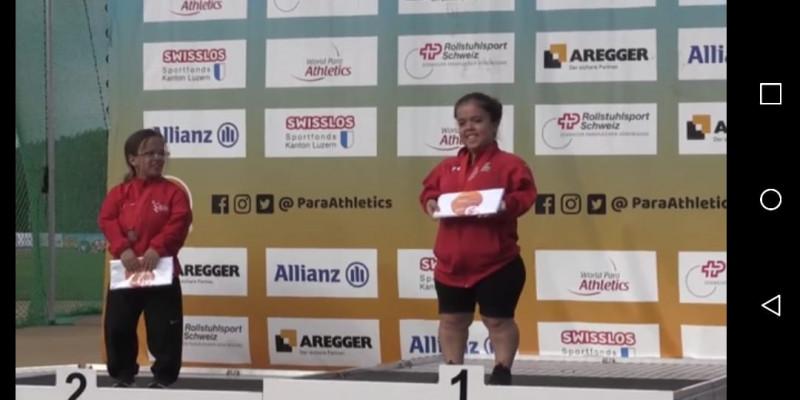 La sinaloense Rossely Armenta gana oro en el Mundial Paralimpico