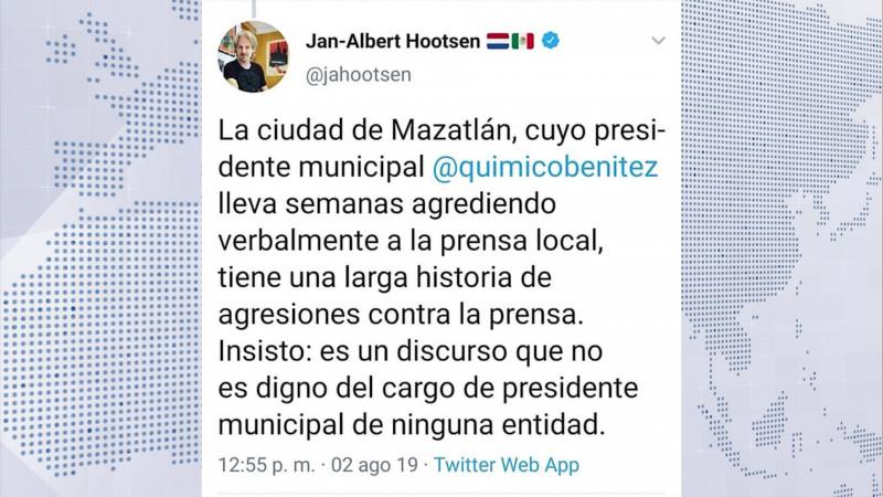 Se pronuncia CPJ tras 'ataques' a la prensa mazatleca