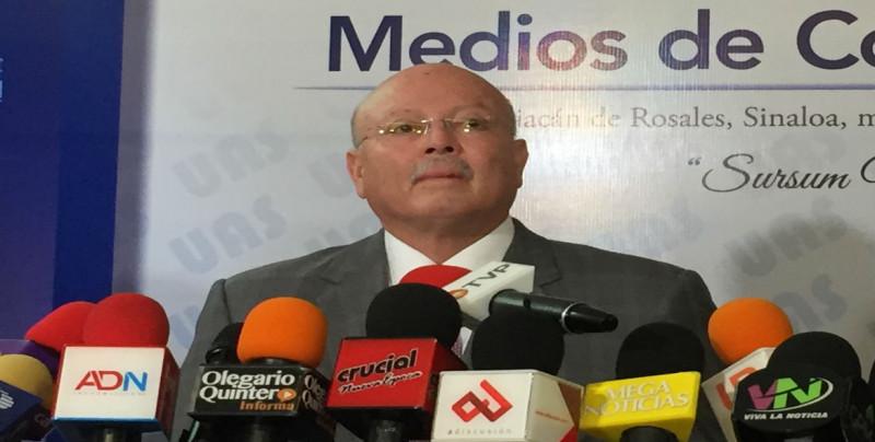 Rector de la UAS  se solidariza con la prensa
